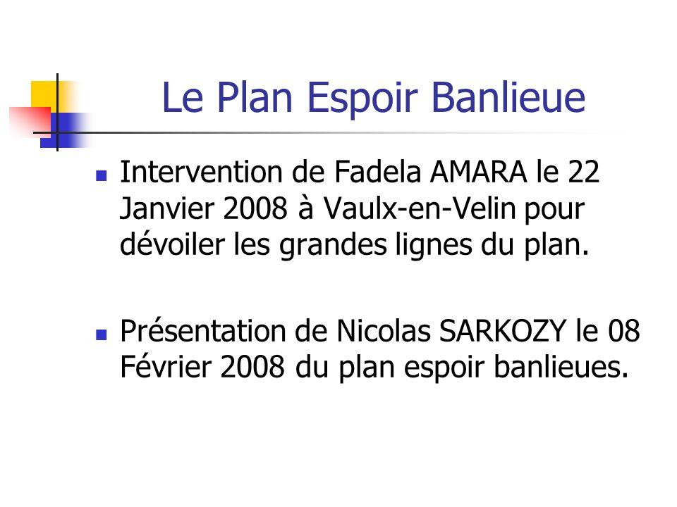 Le Plan Espoir Banlieue Intervention de Fadela AMARA le 22 Janvier 2008 à Vaulx-en-Velin pour dévoiler les grandes lignes du plan.