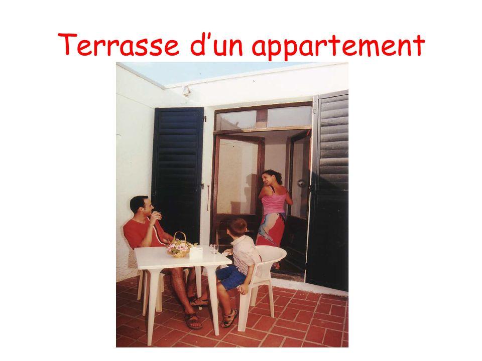 Terrasse dun appartement