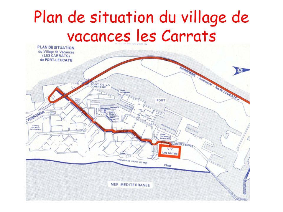 Plan de situation du village de vacances les Carrats