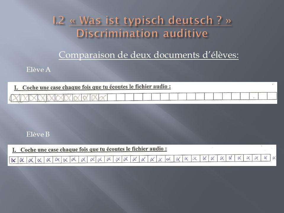 Comparaison de deux documents délèves: Elève A Elève B