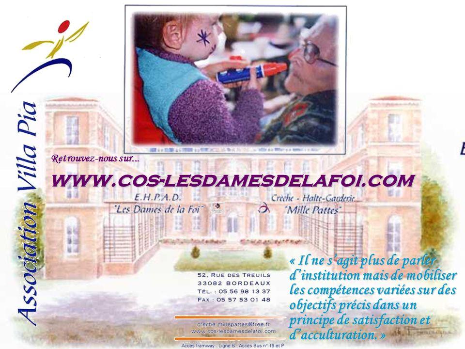 www.cos-lesdamesdelafoi.com Retrouvez-nous sur...