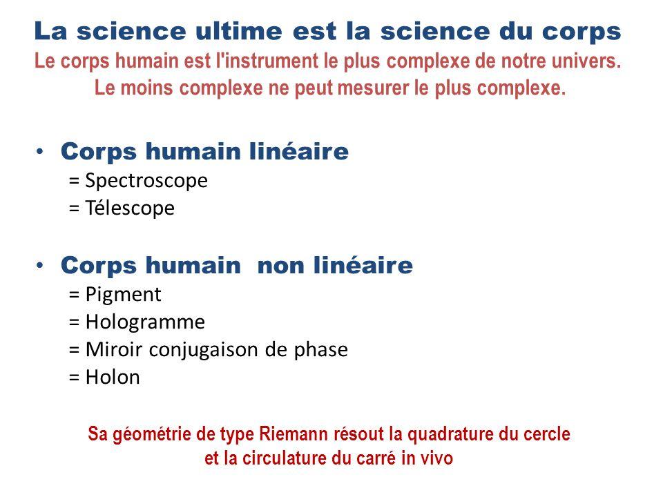 La science ultime est la science du corps Le corps humain est l instrument le plus complexe de notre univers.