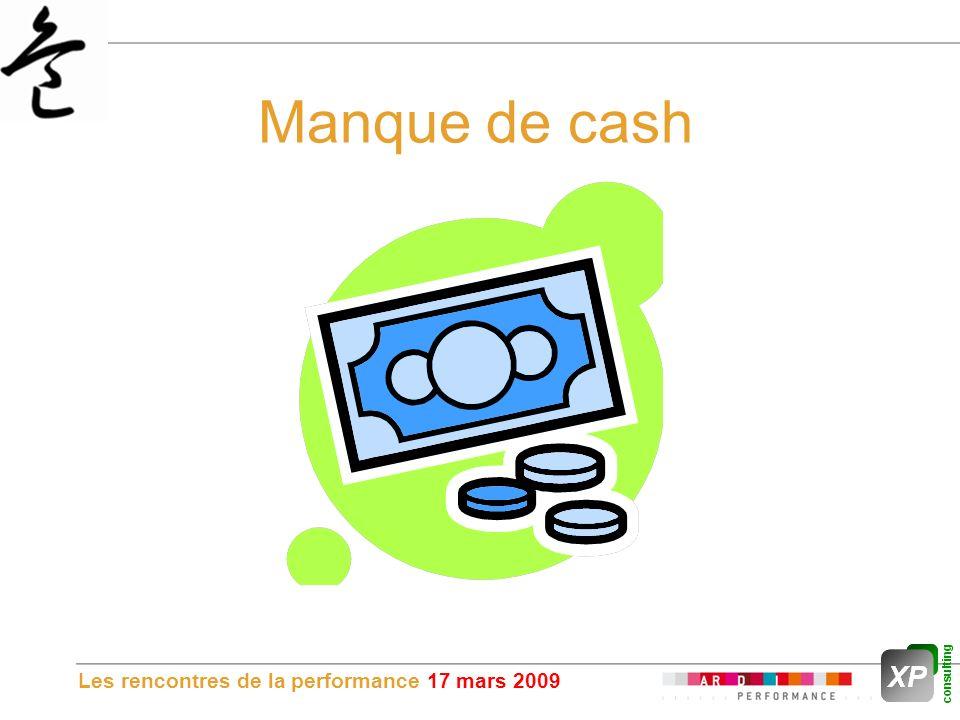 Les rencontres de la performance 17 mars 2009 Manque de cash