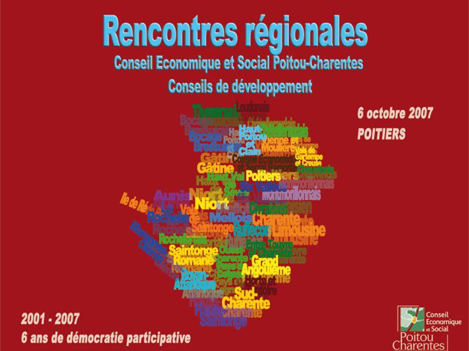 Rencontres régionales CESR – Conseils de développement 6 octobre 2007 1.