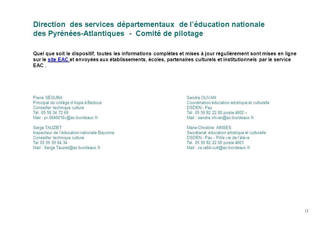 Pierre SÉGURA Principal du collège d'Aspe à Bedous Conseiller technique culture Tél. 05 59 34 72 69 Mail : pr.0640016v@ac-bordeaux.fr Serge TAUZIET In