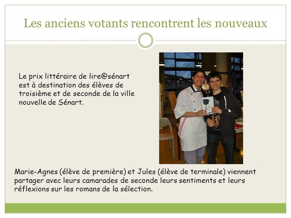 Les anciens votants rencontrent les nouveaux Le prix littéraire de lire@sénart est à destination des élèves de troisième et de seconde de la ville nou