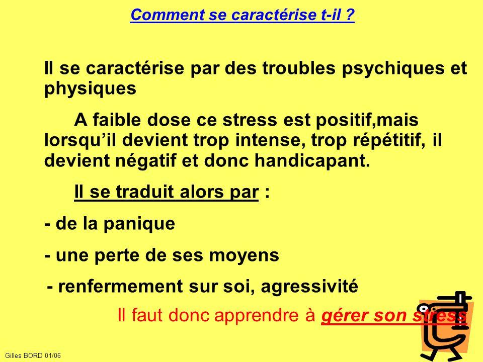 Gérer son stress Cela parait une évidence, mais pour bien manager son stress, il faut déjà savoir le détecter.