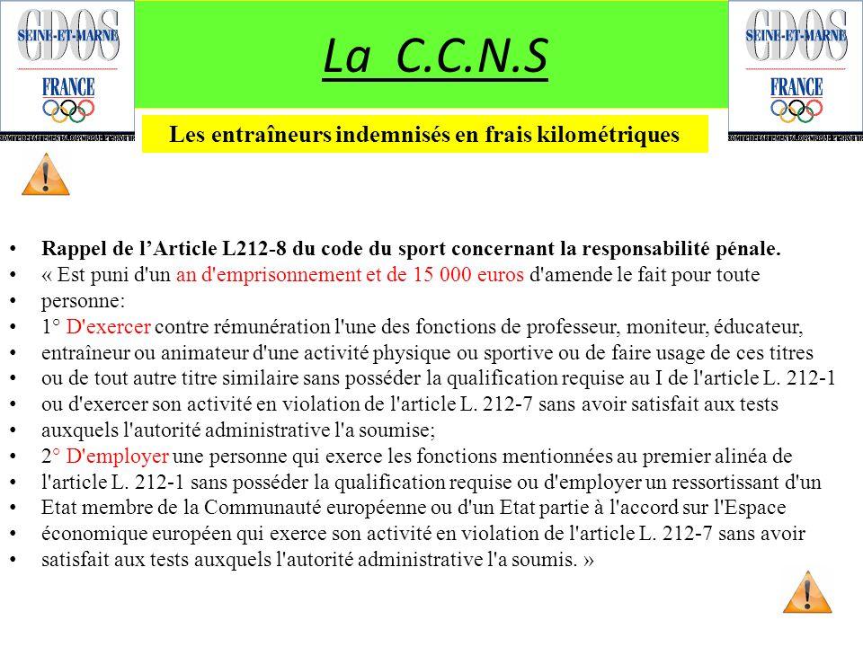 Rappel de lArticle L212-8 du code du sport concernant la responsabilité pénale. « Est puni d'un an d'emprisonnement et de 15 000 euros d'amende le fai