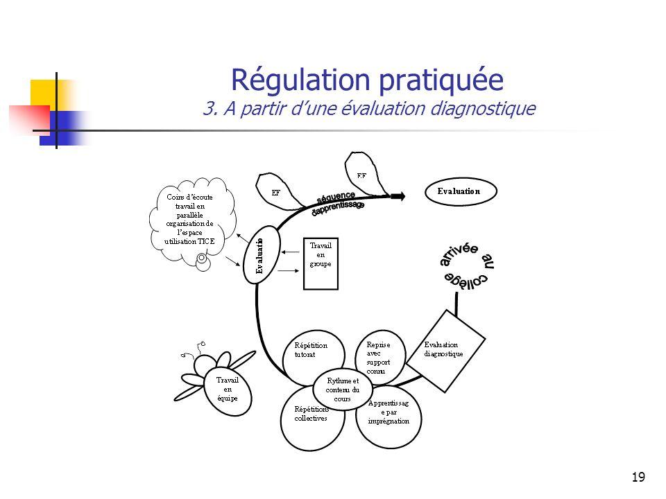 19 Régulation pratiquée 3. A partir dune évaluation diagnostique