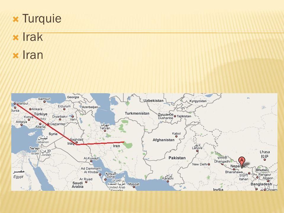 Turquie Irak Iran