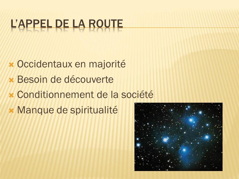 Occidentaux en majorité Besoin de découverte Conditionnement de la société Manque de spiritualité