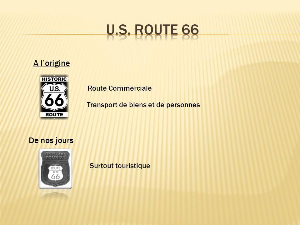 A lorigine Route Commerciale Transport de biens et de personnes De nos jours Surtout touristique