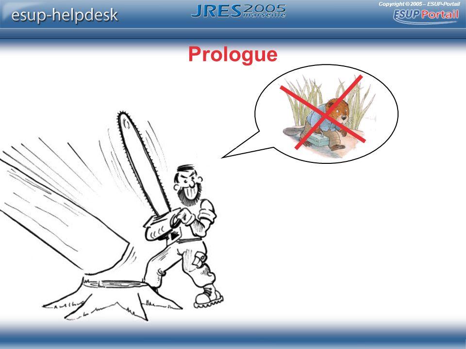 Copyright © 2005 – ESUP-Portail Remontées dalerte (gestionnaires) Rapidement filtrées vers /dev/null si trop nombreuses Hautement configurables ConstatOrganisation du supportSatisfaction des utilisateurs