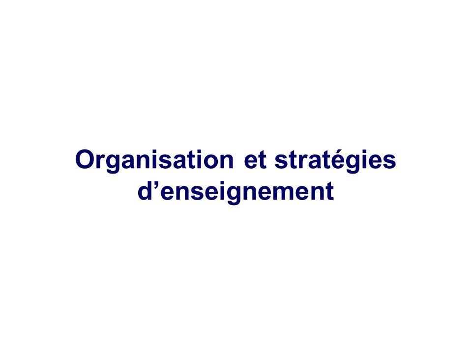 Organisation et stratégies denseignement
