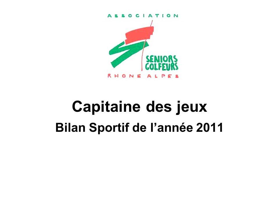 Capitaine des jeux Bilan Sportif de lannée 2011