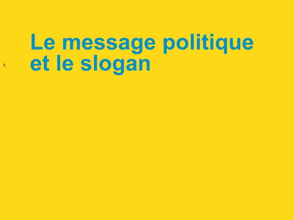 1. Le message politique et le slogan