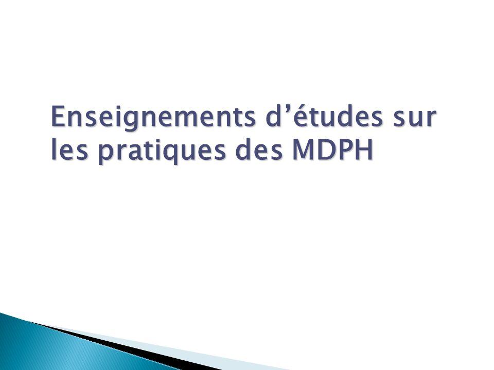 Enseignements détudes sur les pratiques des MDPH