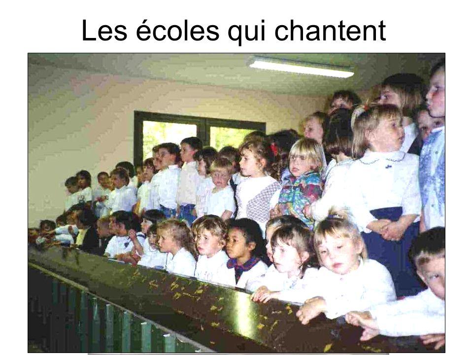 Les écoles qui chantent