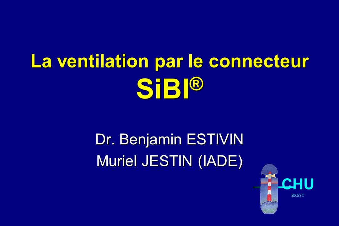 La ventilation par le connecteur SiBI ® Dr. Benjamin ESTIVIN Muriel JESTIN (IADE) CHU BREST