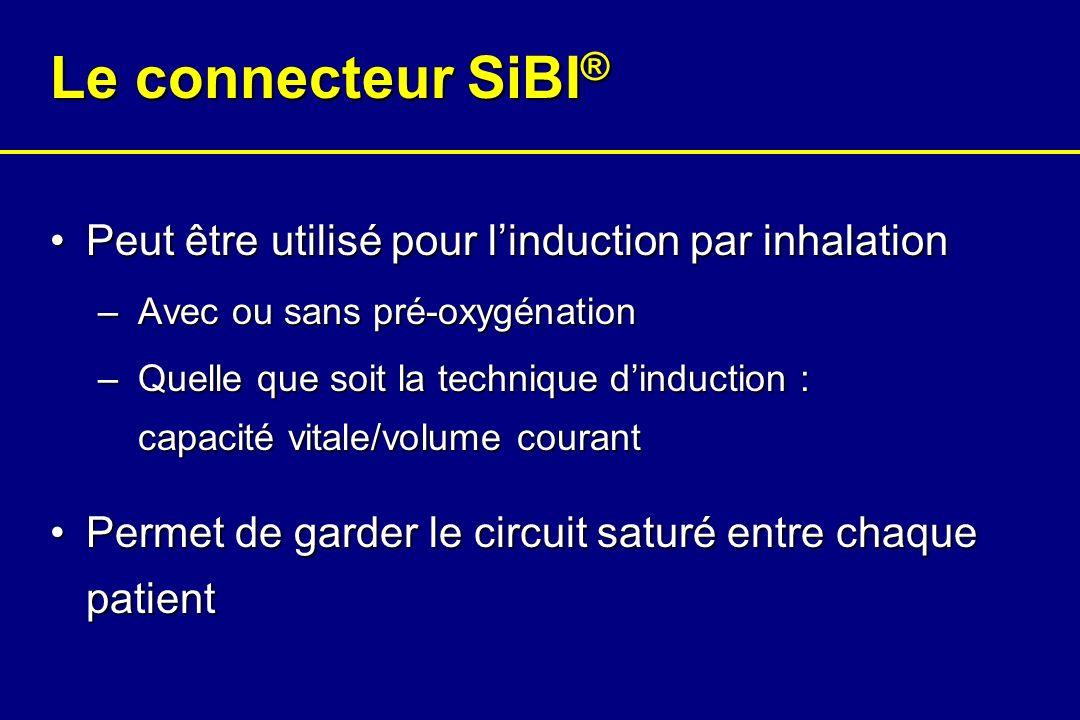 Le connecteur SiBI ® Peut être utilisé pour linduction par inhalationPeut être utilisé pour linduction par inhalation – Avec ou sans pré-oxygénation –