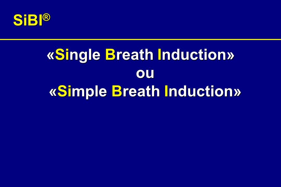 Etude clinique SiBI ® (1) Etude prospective, randomiséeEtude prospective, randomisée Induction par inhalation chez 20 patients divisés en 2 groupesInduction par inhalation chez 20 patients divisés en 2 groupes –Induction avec le connecteur (10 patients pré-oxygénés) –Induction sans le connecteur (10 patients non pré-oxygénés)