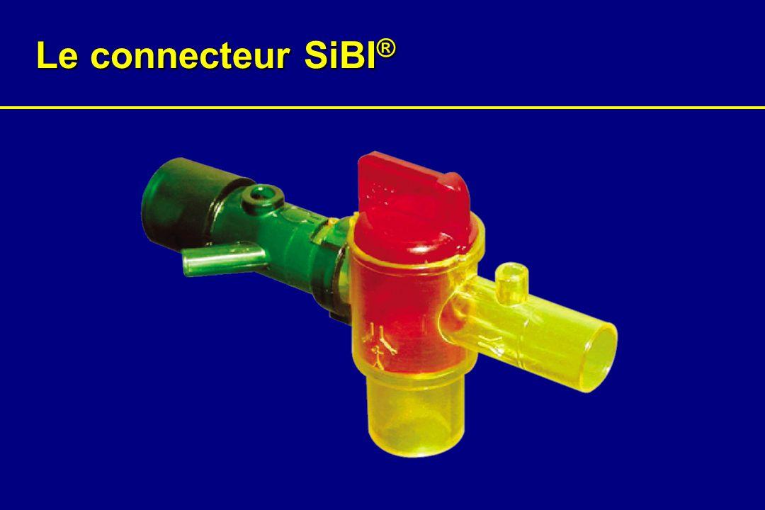 Intubation/ Pose dun masque laryngé Pointe de la flèche du sélecteur orientée vers le côté «circuit anesthésique»
