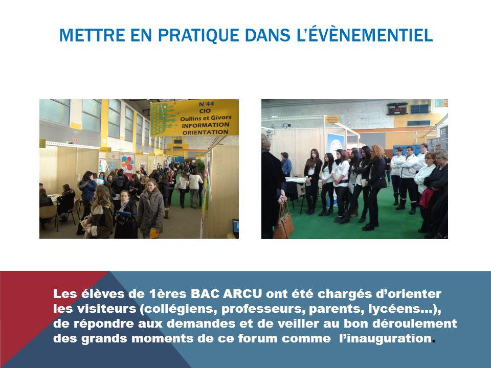 Les élèves de 1 ère BAC ARCU du lycée Orsel ont tenu les fonctions dagents daccueil lors du forum de la mobilité internationale et des métiers de Pier