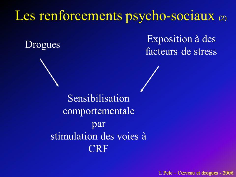 Les renforcements neuro-biologiques I. Pelc – Cerveau et drogues - 2006