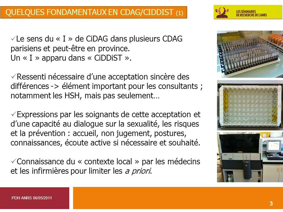 3 Le sens du « I » de CiDAG dans plusieurs CDAG parisiens et peut-être en province. Un « I » apparu dans « CiDDiST ». Ressenti nécessaire dune accepta