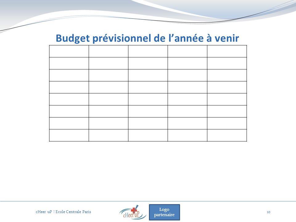 Logo partenaire Budget prévisionnel de lannée à venir 10 cHeer uP ! Ecole Centrale Paris
