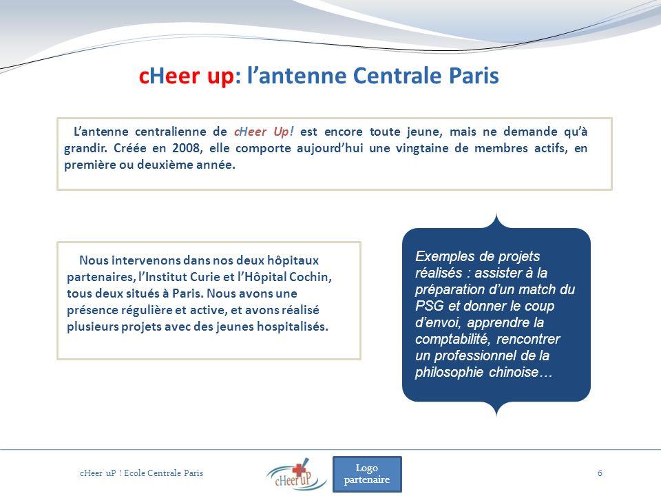 Logo partenaire 6 Nous intervenons dans nos deux hôpitaux partenaires, lInstitut Curie et lHôpital Cochin, tous deux situés à Paris. Nous avons une pr
