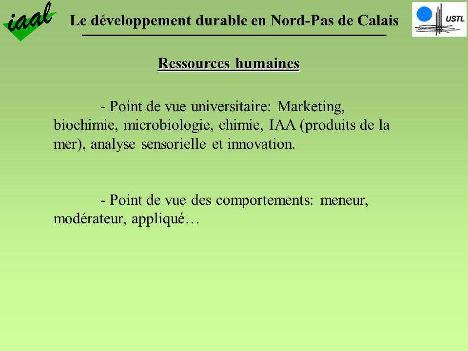 - Point de vue universitaire: Marketing, biochimie, microbiologie, chimie, IAA (produits de la mer), analyse sensorielle et innovation. - Point de vue