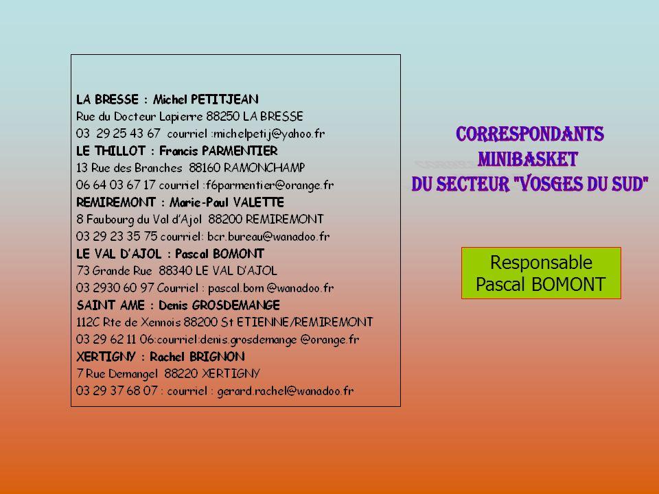 Responsable Pascal BOMONT
