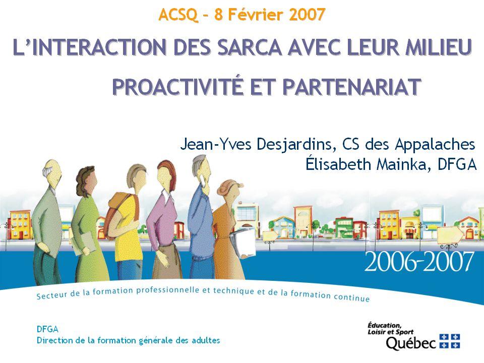 12 La visibilité SAVOIRS D EXPÉRIENCE Des actions d information et de promotion –par la présence dans le milieu (ex.
