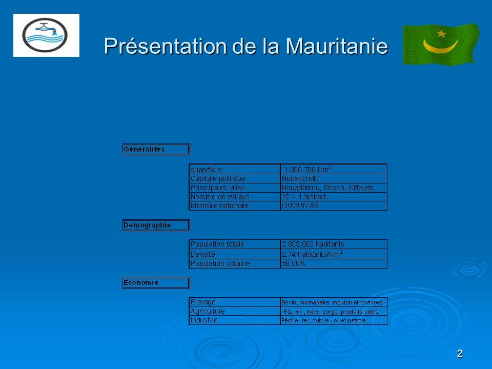 2 Présentation de la Mauritanie