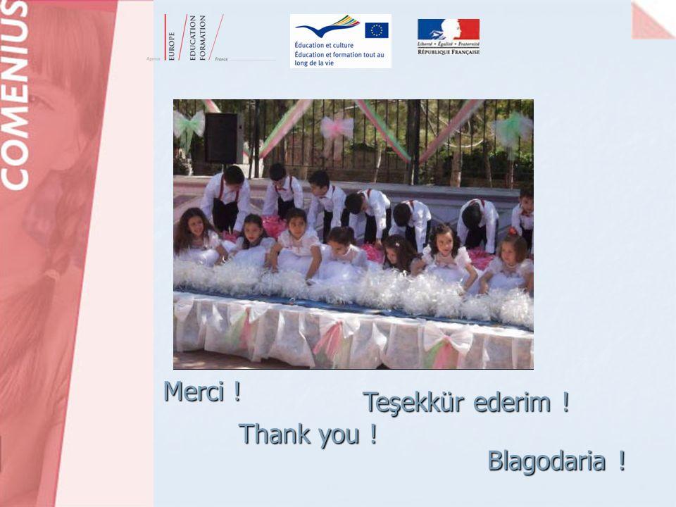 Merci ! Thank you ! Blagodaria ! Teşekkür ederim ! M