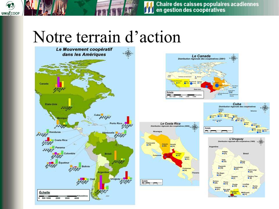 Chaire des caisses populaires acadiennes en gestion des coopératives 29 Notre terrain daction