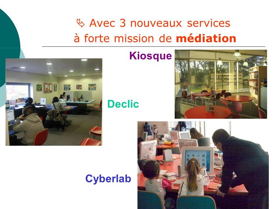 Avec 3 nouveaux services à forte mission de médiation Kiosque Cyberlab Declic