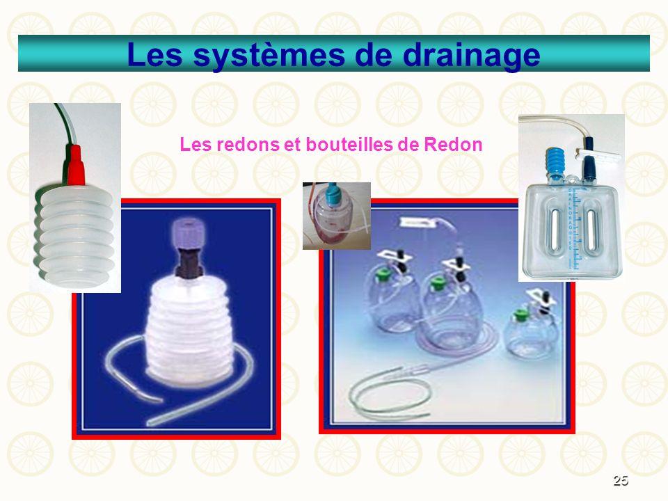 25 Les systèmes de drainage Les redons et bouteilles de Redon
