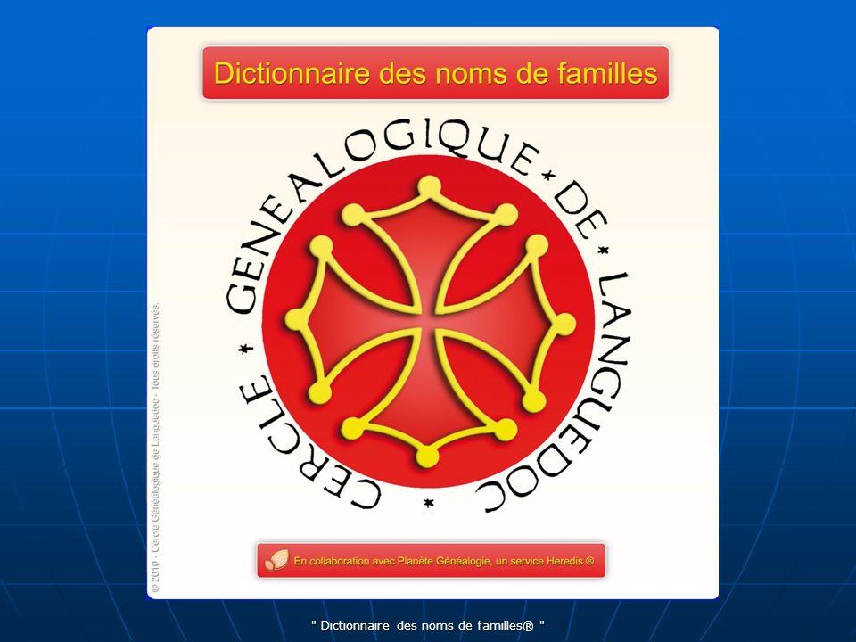 Dictionnaire des noms de familles®