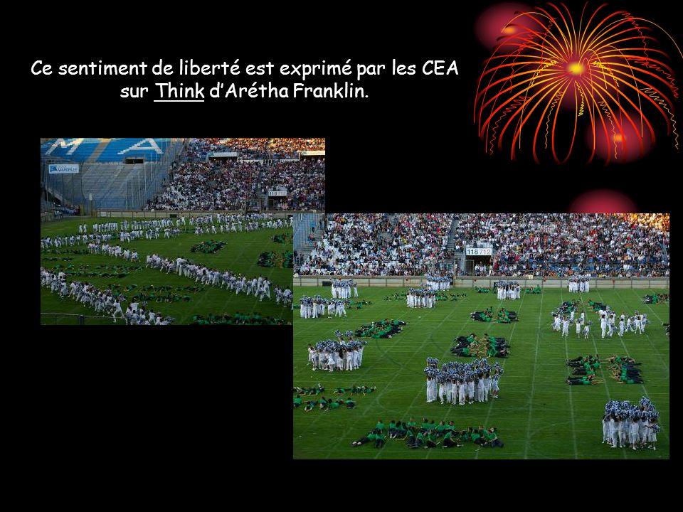 Ce sentiment de liberté est exprimé par les CEA sur Think dArétha Franklin.