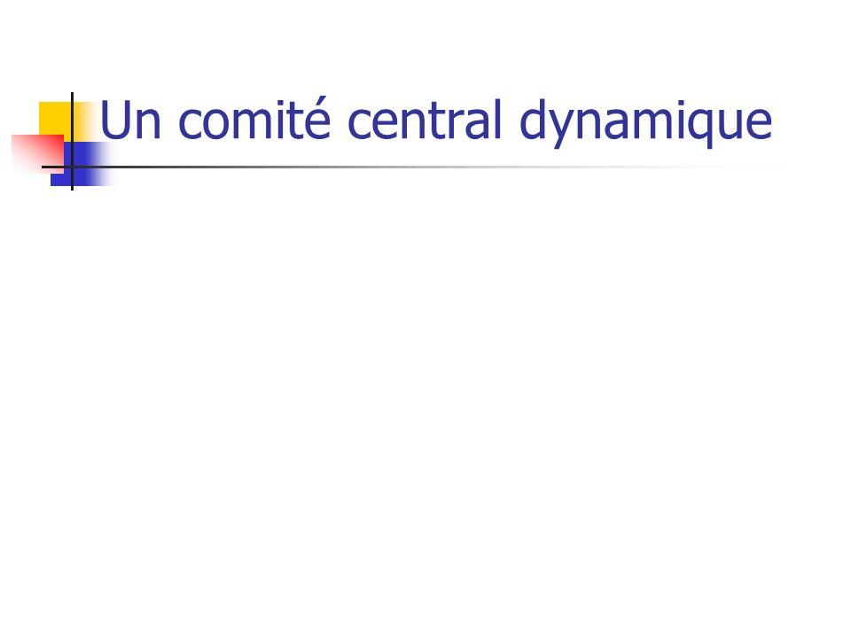 Un comité central dynamique