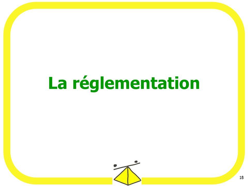 18 La réglementation