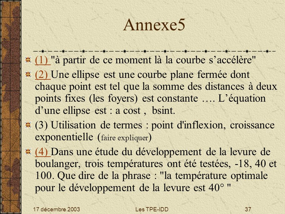 17 décembre 2003Les TPE-IDD37 Annexe5 (1) (1)