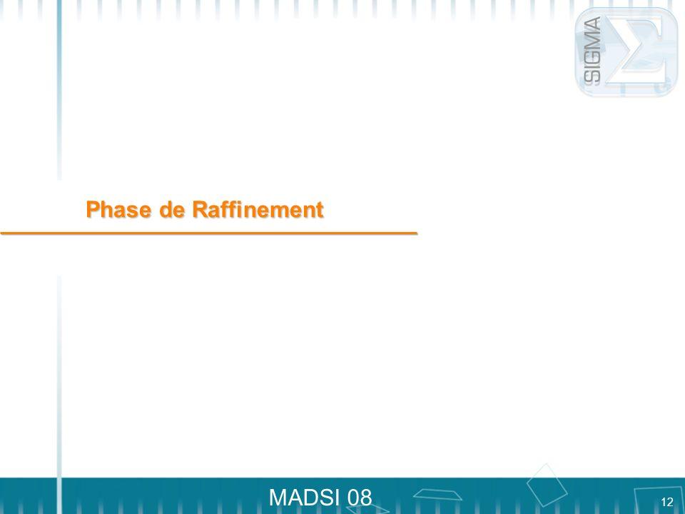 12 MADSI 08 Phase de Raffinement