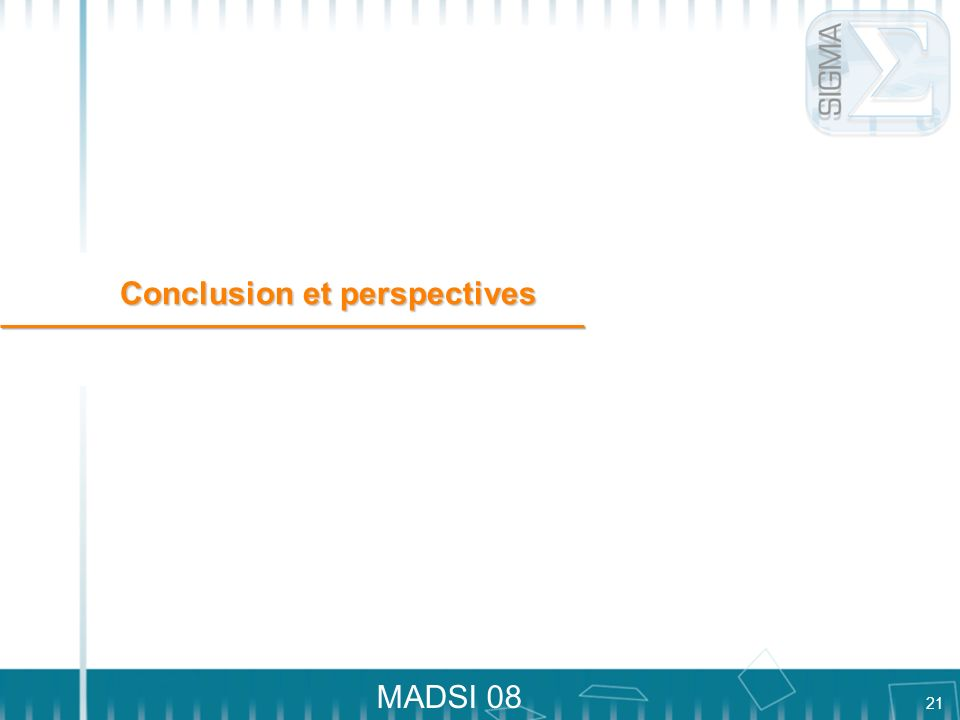 21 MADSI 08 Conclusion et perspectives