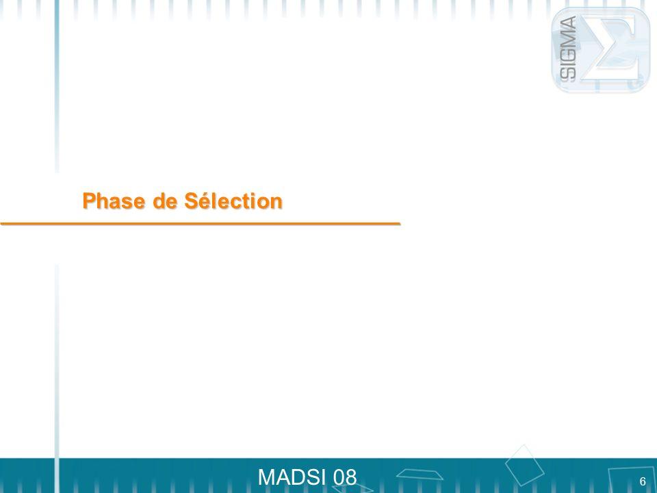 6 MADSI 08 Phase de Sélection