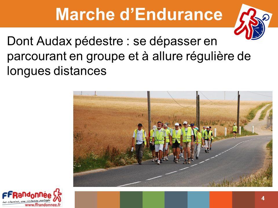 Marche dEndurance 4 Dont Audax pédestre : se dépasser en parcourant en groupe et à allure régulière de longues distances