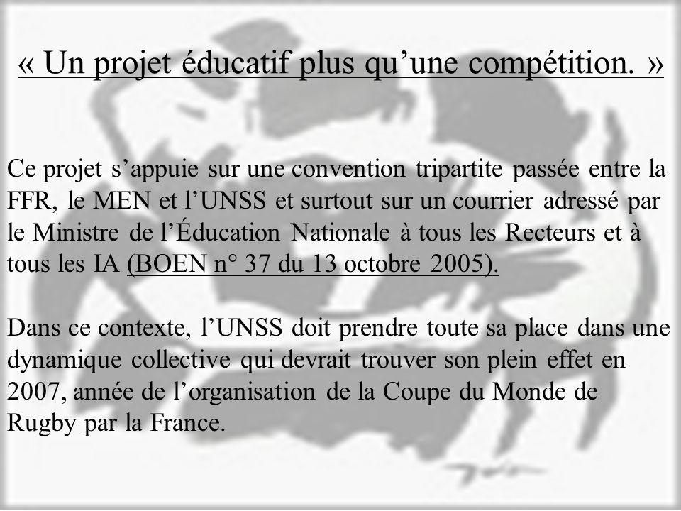 « Un projet éducatif plus quune compétition.