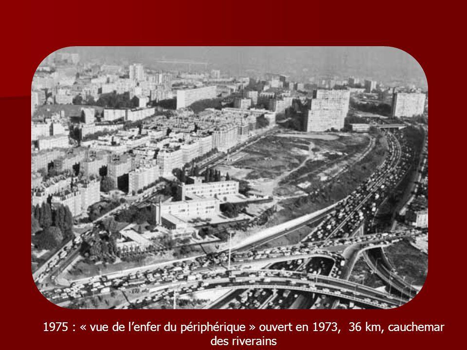 1975 : « vue de lenfer du périphérique » ouvert en 1973, 36 km, cauchemar des riverains